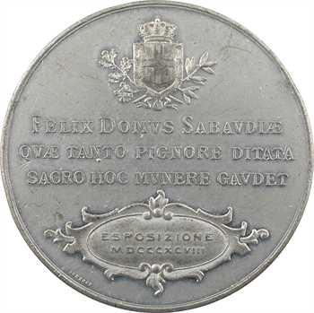 Italie, Humbert Ier, Exposition de Turin (présentation du Saint Suaire), 1898