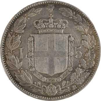 Italie (royaume d'), Humbert Ier, 5 lire, 1879 Rome