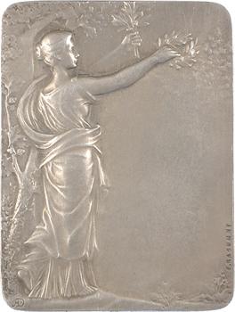 Rasumny (F.) : plaquette de mariage civil, 1911 Paris