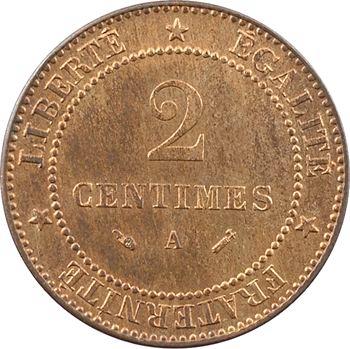 IIIe République, 2 centimes Cérès, 1888 Paris