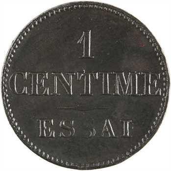 Louis-Philippe Ier, essai de 1 centime, en étain bronzé, s.d. Paris