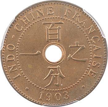 Indochine, 1 centième, 1903 paris, PCGS MS64RB