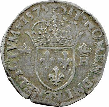 Henri III, teston 3e type, 1575 Paris