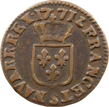 Louis XV, liard à la vieille tête, 1771 Reims