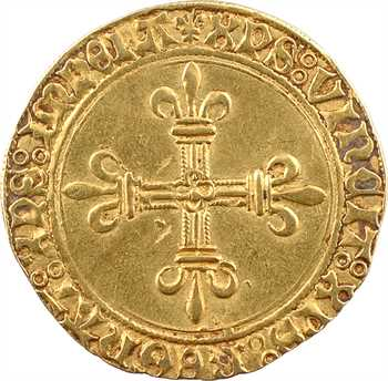 Charles VIII, écu d'or au soleil, 2e émission, c.1498, Troyes