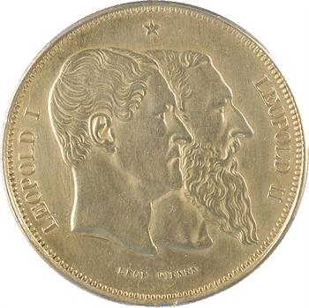 Belgique (royaume de), Léopold II, médaille au module de 5 francs, 1880 Bruxelles