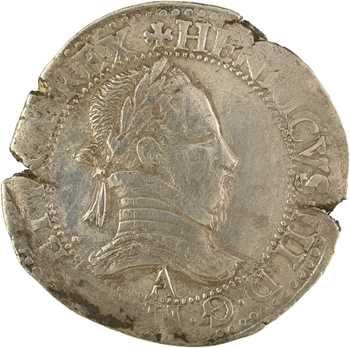 Henri III, franc au col plat, 1576/5 ? Paris