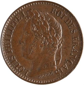 Louis-Philippe Ier, essai de 1 centime, s.d. Paris flan mince