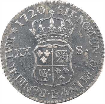 Louis XV, pièce de XX sols de Navarre, 1720 Tours