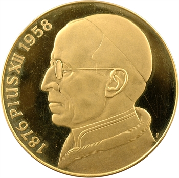 Vatican, Pie XII, médaille en or PROOF, 1958