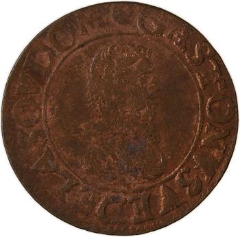 Dombes (principauté des), Gaston d'Orléans, double tournois 8e type, 1635 Trévoux