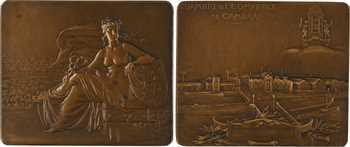 Pillet (C.) : Chambre de Commerce de Cambrai, paire d'épreuves, s.d
