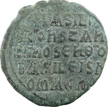 Basile Ier et Constantin, follis, atelier provincial, 867-886
