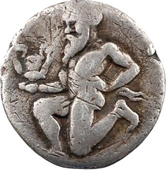 Iles de Thrace, Thasos, trihémiobole, c.400-360