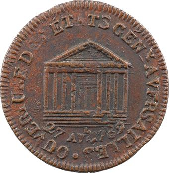 Constitution, jeton pour l'ouverture des États généraux, 1789 Paris