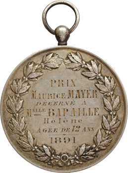 IIIe République, la Société des sauveteurs de la Seine à Melle Bapaille, par Oudiné, 1891 Paris