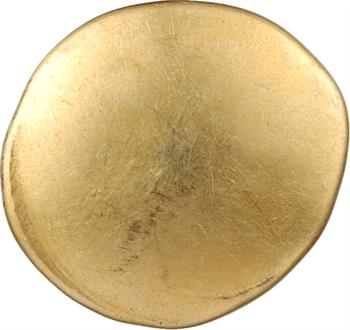 Ambiens, statère d'or uniface aux deux esses, c.60-50 av. J.-C.