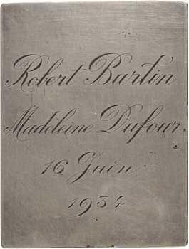 Coudray (L.) et Exbrayat (E.-V.) : plaquette de mariage Semper, 1934