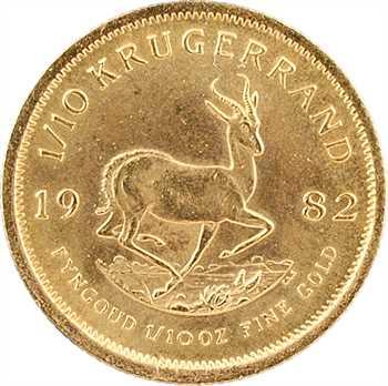Afrique du Sud, 1/10 de krugerrand, 1982