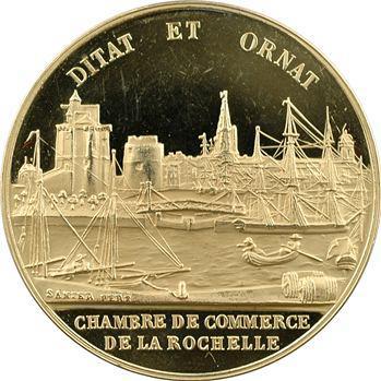 Ve République, jeton de présence en or, Chambre de Commerce de La Rochelle, s.d. Paris