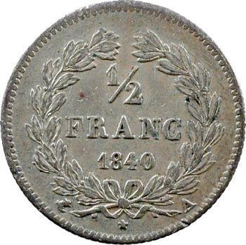 Louis-Philippe Ier, 1/2 franc, 1840 Paris