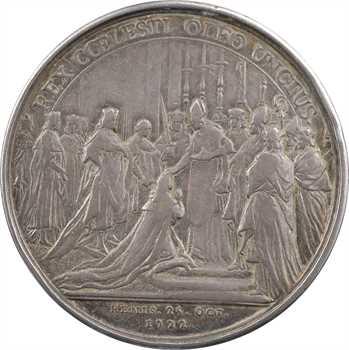 Louis XV, sacre à Reims le 25 octobre 1722, par Rög et Blanc, argent, 1722 Paris