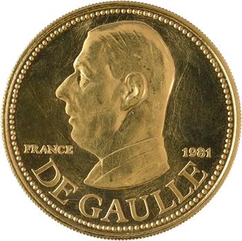 Ve République, Charles de Gaulle (les leaders politiques dans le monde), en or, 1981 Paris