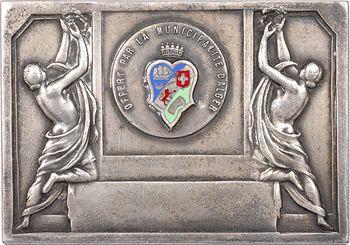 Algérie, Alger, plaque offerte par la municipalité, s.d. Paris