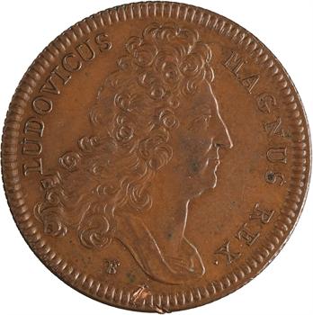 Louis XIV, la Princesse de Conti ?, aux armes des Bourbon-Conti, refrappe XIXe siècle