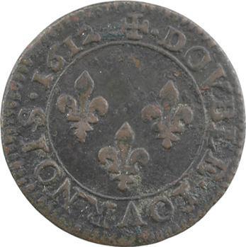 Louis XIII, double tournois, 1612 Paris