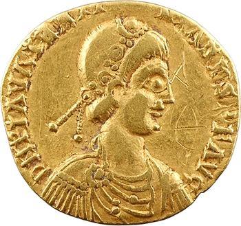 Wisigoths, solidus au nom de Valentinien III, Gaule du Nord, c.430-440