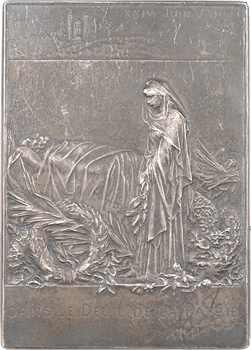 Roty (L.-O.) : funérailles de Sadi Carnot, en argent, 1898 Paris