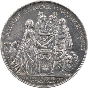 Louis XV, mariage du dauphin Louis (XVI) et de Marie-Antoinette par Lorthior, 1770 Paris