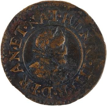 Henri IV, denier tournois, 1610 Nantes
