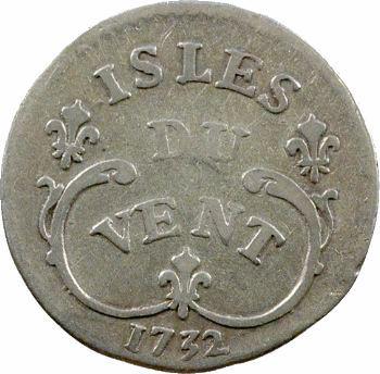 Louis XV, 12 sols des Îles du Vent, 1732 La Rochelle