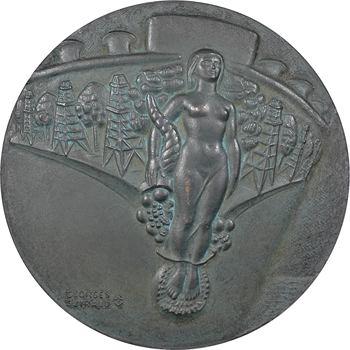 Ve République, le pétrolier Esso Parentis, par Guiraud, 1958 Paris