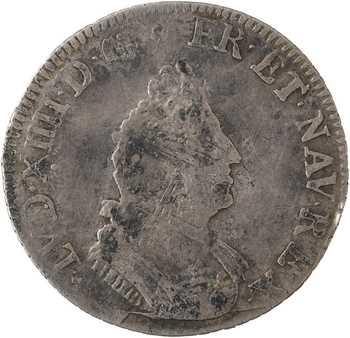 Louis XIV, seizième d'écu de Flandre aux palmes, 1694 Lille