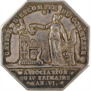 Consulat, Caisse d'Escompte du Commerce, par Andrieu, 1802 Paris