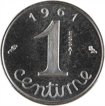 Ve République, essai de 1 centime épi, 1961 Paris