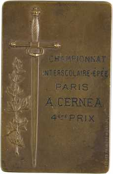 IIIe République, Société d'escrime de Paris, 1893 Paris