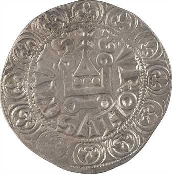 Philippe IV, gros tournois à l'O rond et T oncial