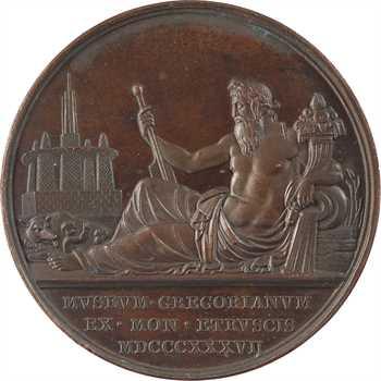 Vatican, Grégoire XVI, inauguration du Musée Grégorien Étrusque, 1837 (An VII) Rome
