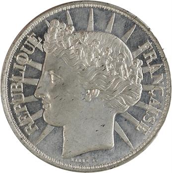 IIe République, concours de 5 francs par Barre, 1848 Paris