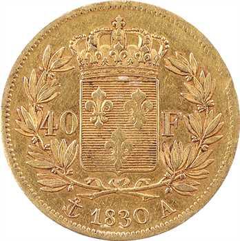 Charles X, 40 francs 2e type, 1830 Paris