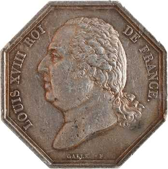 Louis XVIII, les courtiers de commerce de Paris, s.d. Paris