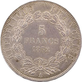 IIe République, 5 francs LNB, 1852 Paris