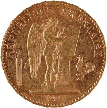 IIIe République, 20 francs Génie, 1888 Paris