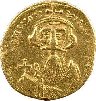 Constant II, solidus de poids léger (23 siliques), Constantinople, 7e officine, 651-654