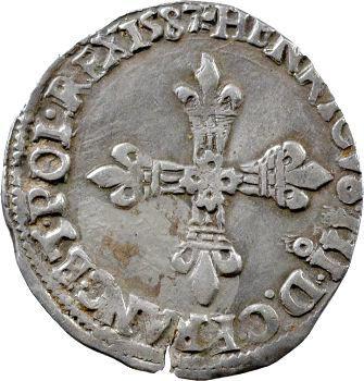 Henri III, huitième d'écu croix de face, 1587 Rennes