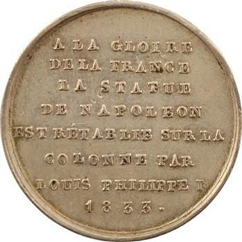 Louis-Philippe Ier, rétablissement de la statue de Napoléon Ier, 1833 Ag